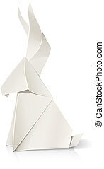 rabbit paper origami toy