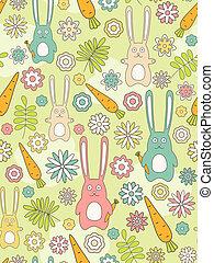 Rabbit seamless background.