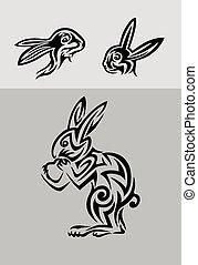Rabbit set tribal