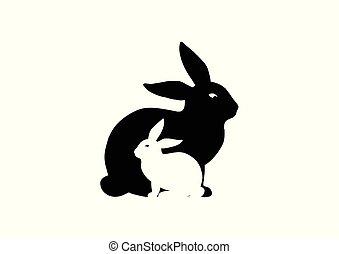 rabbit silhouette design