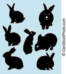 Rabbit silhouettes 01.