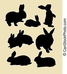 Rabbit silhouettes 02.
