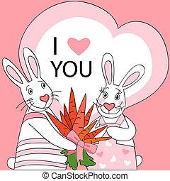 Rabbit valentine