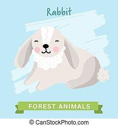Rabbit Vector, forest animals.