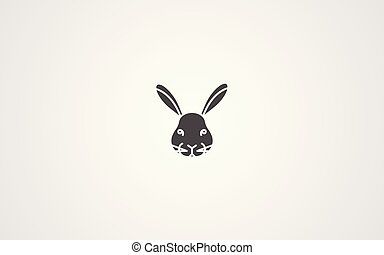 Rabbit vector icon sign symbol