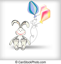 Rabbit with balloons