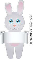 Rabbit with blank roll