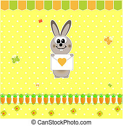 rabbit with carrots vector