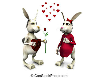 Rabbits in love