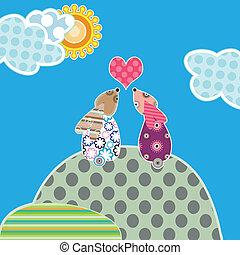 rabbitslove 1 - Liefde en konijnen, romantisch en schattig,...