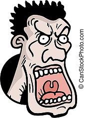 Rabid man - Creative design of rabid man