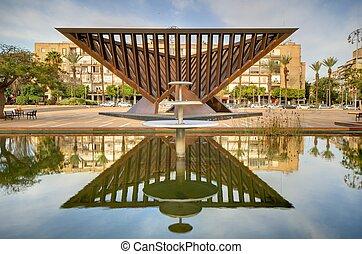 Rabin Square - TEL AVIV - FEBRUARY 22: Monument in Rabin...