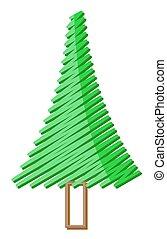 rabisco, desenho, árvore, natal