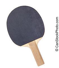 racchetta, bianco, tennis, isolato