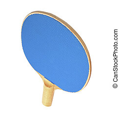 racchetta, ping-pong, isolato