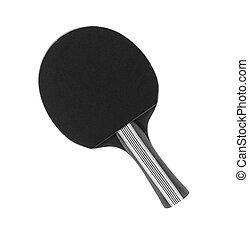 racchetta, sfondo bianco, isolato, pingpong