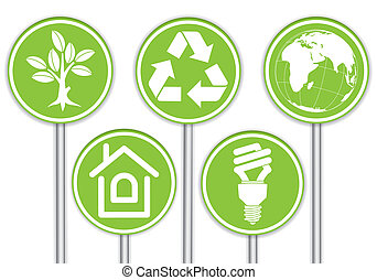 raccogliere, ambiente, bandiera
