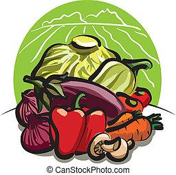 raccogliere, verdura