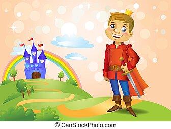 racconto, castello, bello, fata, principe