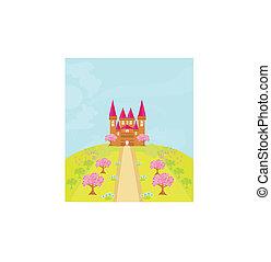 racconto, castello, magia, principessa fata