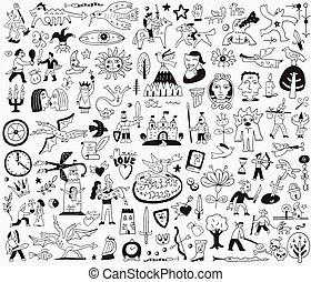 racconto, doodles, fata