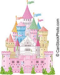 racconto, fata, castello