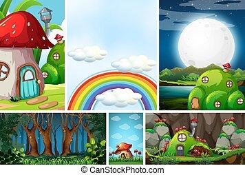 racconto, scena, formica, foresta, mondo, differente, fantasia, notte, vuoto, fata, fate, sei, antnest, bello, arcobaleno, cielo