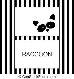 raccoon animal template - Raccoon logo. Isolated raccoon...