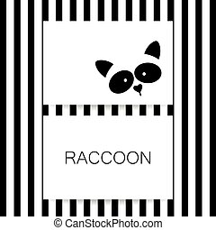 raccoon animal template - Raccoon logo. Isolated raccoon...