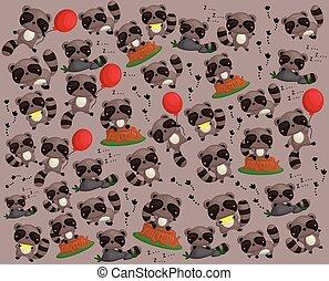 Raccoon Background
