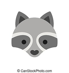 Raccoon face icon