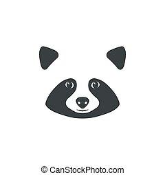 Raccoon mascot idea for logo - Raccoon face. Raccoon mascot...