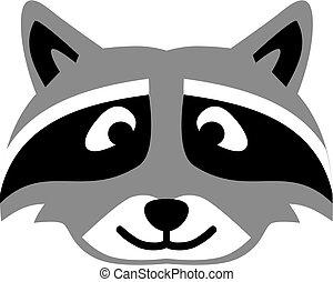 Raccoon head cartoon
