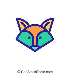 raccoon icon vector. Isolated contour symbol illustration
