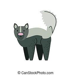 raccoon jungle animal in cartoon abstract design