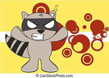 raccoon kid cartoon expression5 - raccoon kid cartoon...