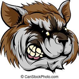 Raccoon mascot character - An illustration of a fierce...