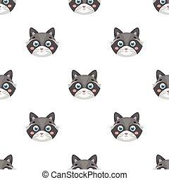 Raccoon muzzle icon in cartoon style isolated on white background. Animal muzzle symbol stock vector illustration.