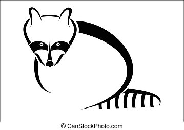 Raccoon symbol - Vector illustration : Raccoon symbol on a...