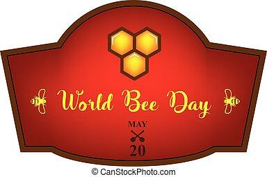 raccourci, mondiale, abeille, jour