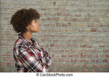 race African-American woman profile