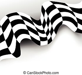 race background checkered flag vector design