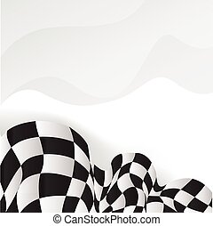 race background checkered flag wave design