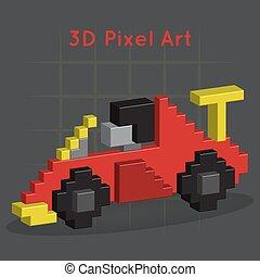 ... Race Car. 3D Pixel Art