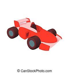 Race car icon, cartoon style - Race car icon in cartoon...