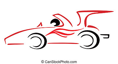 Race car - Illustration of racing car in formula one style