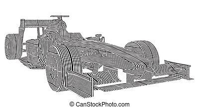 Race Car Stripes Vector