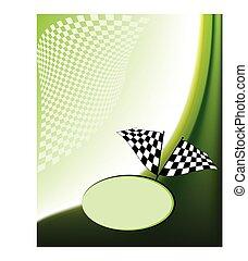 Race Card Design Vector Art