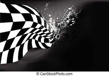 race, checkered flag background vec