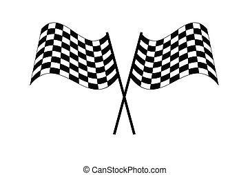 Race Checkered flag start finish icon Vector illustration EPS10